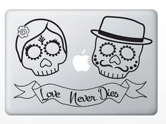 Sugar skull vinyl decal, I want this for my car!