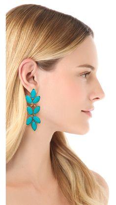 Oscar de la Renta Turquoise Earrings - $300
