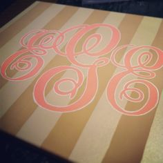 Personalized Canvas Painting by BMoneyDesigns on Etsy, $32.00