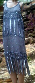 sequin / beaded dress & jacket by Ashley Stewart. $320.00, via Etsy.