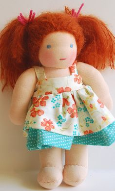 adorable doll dress, waldorf style.