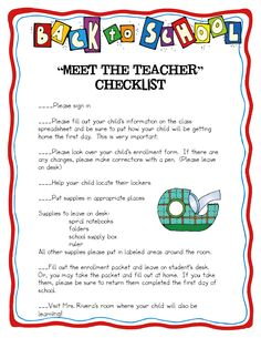 Great meet the teacher night idea