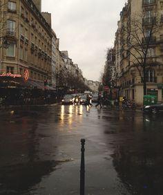 rainy day - paris, france