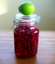 make cranberry infused vodka, give as gifts