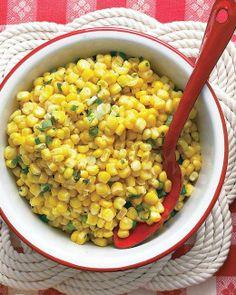 Super Bowl // Corn and Scallion Salad Recipe
