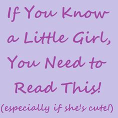 In Lieu of Preschool: If You Know a Little Girl, You Need to Read This! (especially if she's cute)
