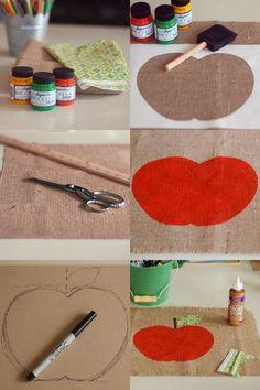 teacher gifts, kids christmas, burlap placemat, place mat, diy crafts, burlap bags, appl burlap, appl placemat, diy placemats burlap