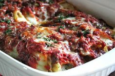 Baked Manicotti  Baked Manicotti    Ingredients      1 package (8 oz.) Manicotti, uncooked pasta     1 pound ground chuck beef     ...