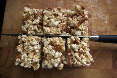 Caramel Corn + Pretzel Bars