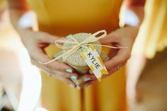 pretty bridesmaid gift wrapping | Ben and Colleen #wedding