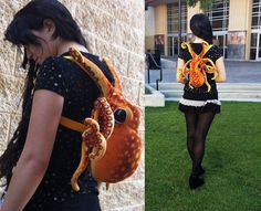 Plush octopus backpack. I would totally use them if they could carry schoolbooks.
