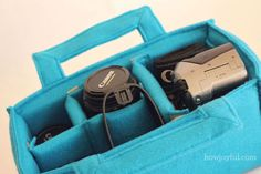 Camera carrier insert tutorial - not as a carrier but to make this insert to fit a messenger bag or backpack