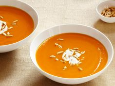 "Healthy Soup Recipes (Part I): ""Ginger-Carrot Soup"" Total Time: 55 min, Prep: 25 min, Cook: 30 min, Yield: 8 servings, Level :Easy 
