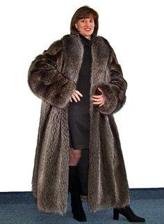 Gorgeous raccoon coat!
