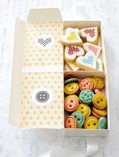 Button and Cross Stitch Cookies