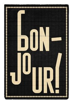 Bonjour illustration print by edubarba