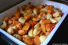 Pommes de terre et patates douces rôties au four / Roasted potatoes and sweet potatoes