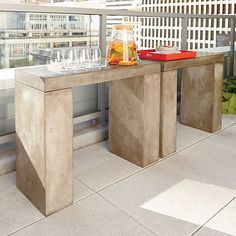 element console table works outdoors and indoors | cb2.com