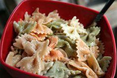 Main Dish Delish Summer Pasta Salad—veggies and pasta seasoned will dill weed and dijon mustard!
