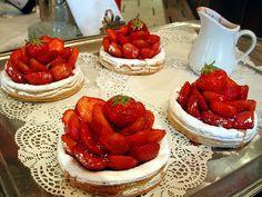Brasserie Lorraine, famous for its beautiful facade and refined Art Nouveau interiors.  Et ces fraises!  Wow!