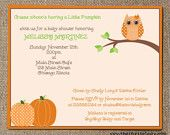 baby shower invites - OWLS