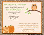 baby shower invites - OWLS