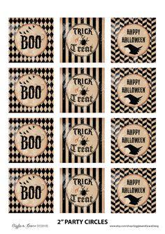 Free Halloween party printables! #free #halloween #printables
