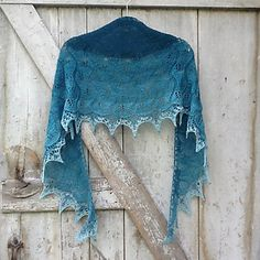 Sea Leaves shawl free knit pattern