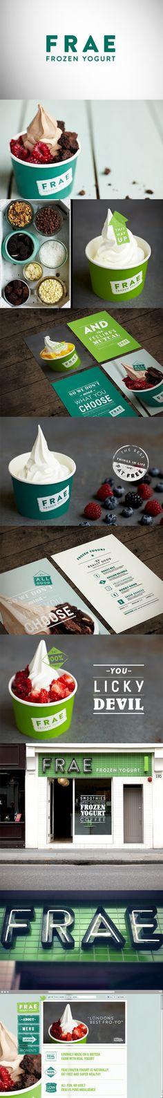 FRAE - frozen yogurt   branding   color
