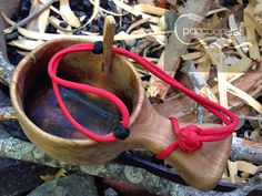 #Paracordist How to Attach Kuksa to Belt or Pack with #Paracord & Toggle System #bushcraft