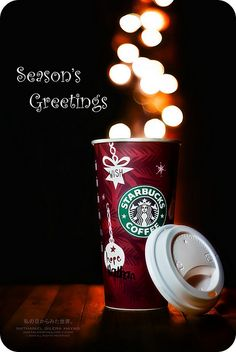 A cup of Xmas Starbucks