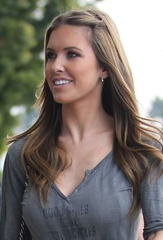 Audrina Patridges long, brunette hairstyle
