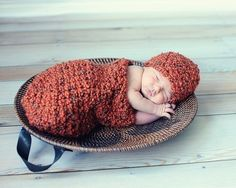 Crochet Pattern Baby Cocoon and Beanie Set