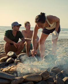 endless summer.  cooking on coals