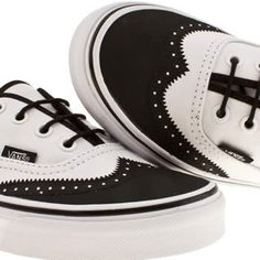 I NEED!!! Women's White & Black Vans Authentic Viii at schuh