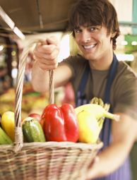 Farmers, use these 8 tips to begin selling at the farmers' market for the first time! Photo courtesy Jupiterimages/Brand X Pictures/Thinkstock
