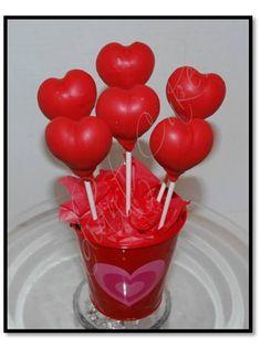 Heart Cake Pops I like the presentation