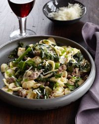 Orecchiette with Sausage and Chicory  - Meaty Pastas from Food & Wine