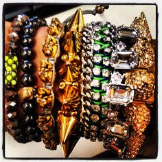 Our Accessory Editor @Amber Herring #ArmParty #DLjewels #AnnTaylor #CapWellco