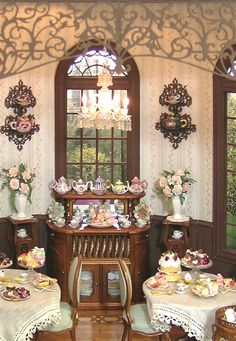 A beautiful Tea Room by Cynthia Howe