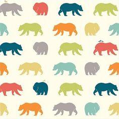 Just for Fun Organic Fun-06 Multi Bear Hike by Birch Fabrics
