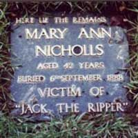 Mary Ann 'Polly' Nicholls. Jack the Ripper Victim