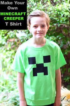 DIY Minecraft Creeper T Shirt Tutorial #Silhouette