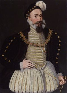 1575 -Robert Dudley, 1st Earl of Leicester 1575. English nobleman and the favourite and close friend of Elizabeth I from her first year on the throne until his death. The Queen giving him reason to hope, he was a suitor for her hand for many years. National Portrait Galley London