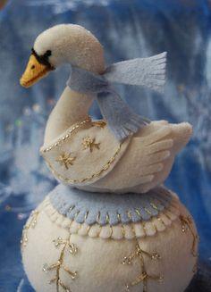 Swan A-swimming Pincushion | Flickr - Photo Sharing!