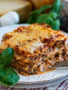 Lasagna - A classic meat lasagna recipe.  So delicious!