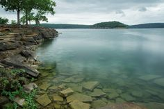 Enjoy the clear water and beautiful shoreline of Tenkiller #StatePark in eastern #Oklahoma when you go #camping or rent a #cabin.
