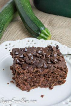 Crock Pot Sugar Free & Gluten Free chocolate zucchini cake/ sugarfreemom.com