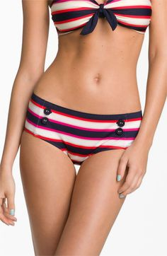 MARC BY MARC JACOBS 'Field Stripe' Hipster Bikini Bottoms available at #Nordstrom
