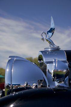 ♂ silver car details Hood Ornament